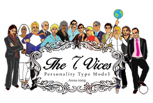 The 7 Vices Personality Type model